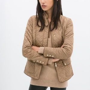 Zara quilted jacket with piping M